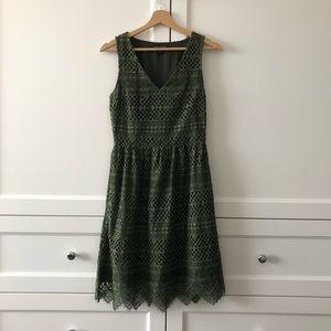 Banana Republic Green Lace Dress - NWOT